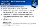 suggested implementation strategies