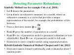 detecting parameter redundancy