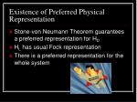 existence of preferred physical representation