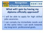 recognition of foreign diplomas
