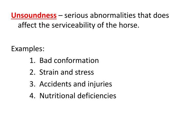 Unsoundness