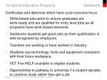 vocational education programs