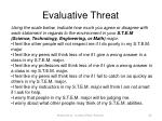 evaluative threat