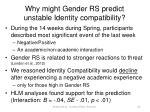 why might gender rs predict unstable identity compatibility