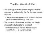 the flat world of ipv4