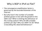 why is bgp in ipv4 so flat