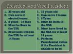 president and vice preisdent