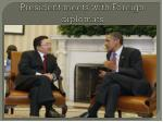 president meets with foreign diplomats