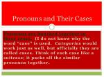 pronouns and their cases