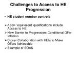 challenges to access to he progression1