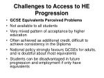 challenges to access to he progression3