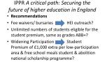 ippr a critical path securing the future of higher education in england