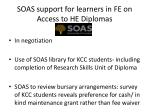 soas support for learners in fe on access to he diplomas1