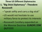 three us different diplomacies