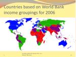 countries based on world bank income groupings for 2006