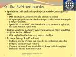 kritika sv tov banky