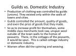 guilds vs domestic industry