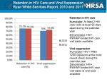 retention in hiv care and viral suppression ryan white services report 2010 and 2011