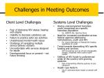 challenges in meeting outcomes