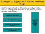 strategies to support hiv positive homeless youth