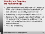opening and cropping the founder image