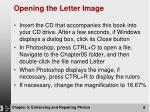 opening the letter image