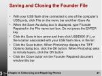saving and closing the founder file