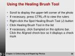 using the healing brush tool