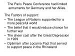 the paris peace conference had limited armaments for germany and her allies