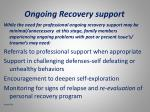 ongoing recovery support