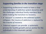 supporting families in the transition stage