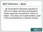 bes definition base