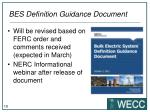 bes definition guidance document1