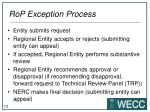 rop exception process
