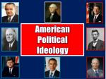 american political ideology