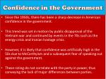 confidence in the government1