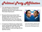 political party affiliation1