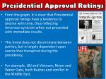 presidential approval ratings1