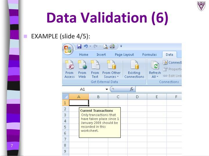 Data Validation (6)