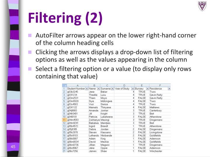 Filtering (2)