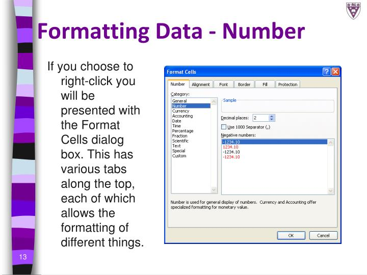 Formatting Data - Number