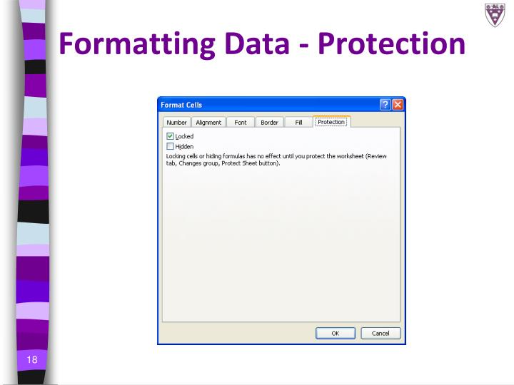 Formatting Data - Protection