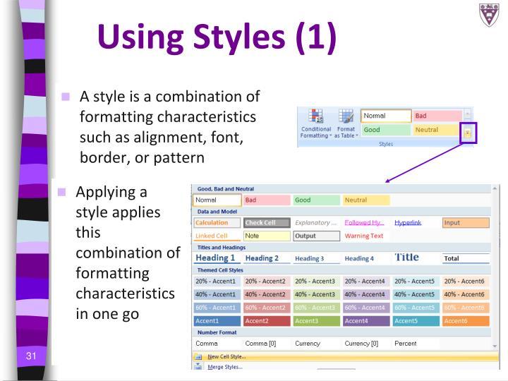 Using Styles (1)