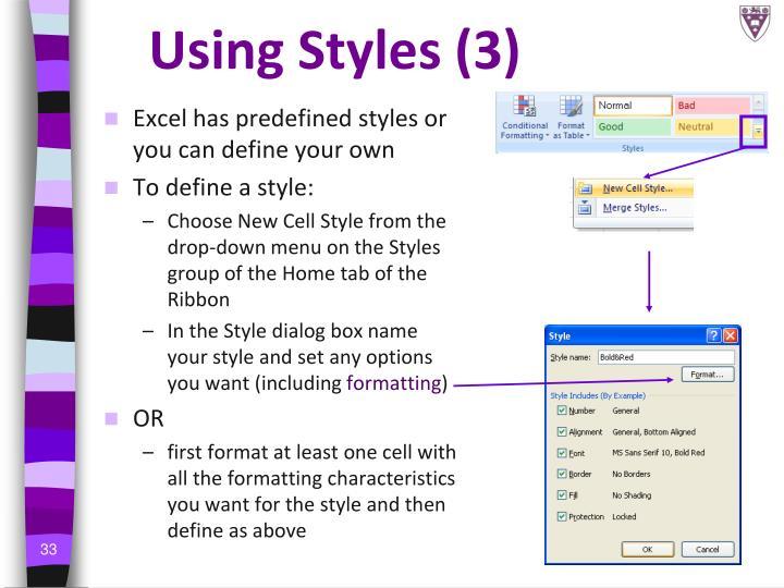 Using Styles