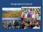 geographic cultural