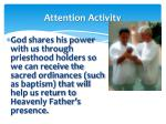 attention activity9
