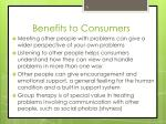 benefits to consumers1