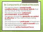 six components of medical necessity