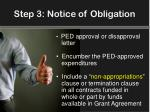 step 3 notice of obligation1