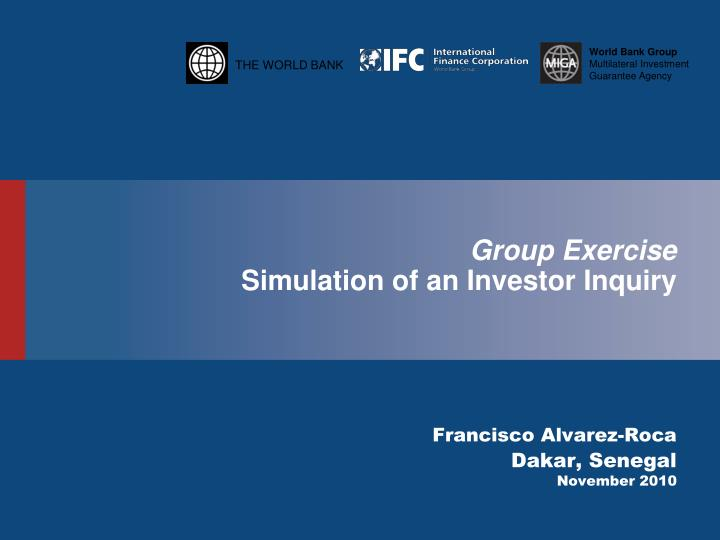 group exercise simulation of an investor inquiry n.